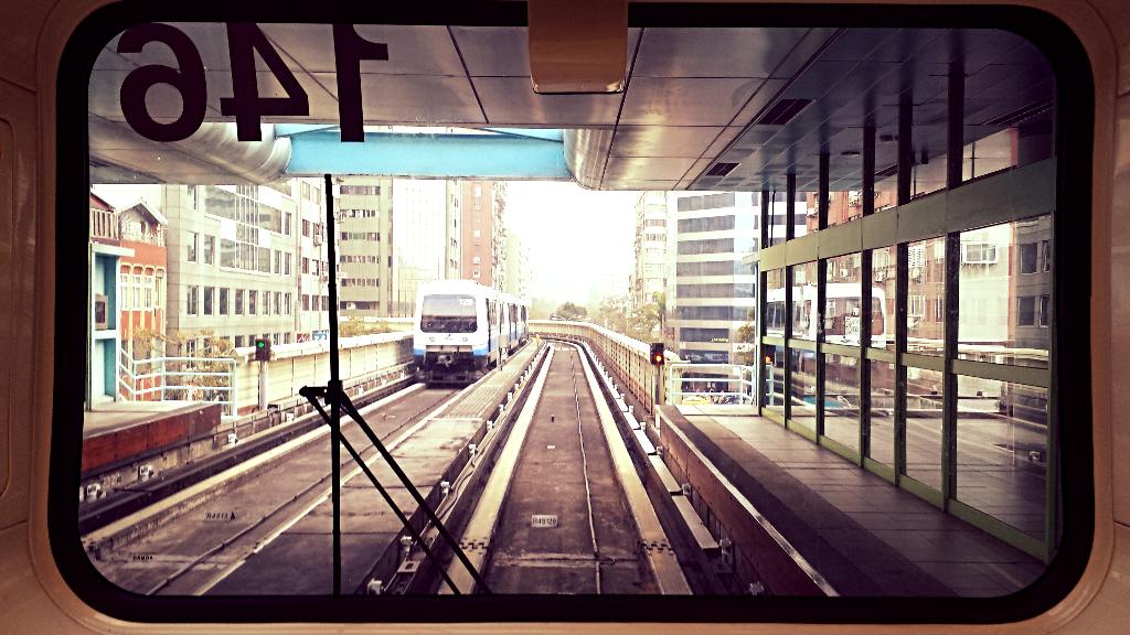 A Taiwanese train. Photo by Kasia Molga.